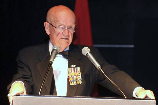 Retired Gen. Gordon R. Sullivan, the 32nd Army chief of staff, was the guest speaker at the U.S. Army Birthday Ball at the Seoul Grand Hyatt.
