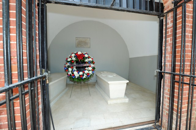 A wreath commemorating the Army's 237th birthday was left by Secretary of the Army John McHugh at the tomb of the Army's first leader and commander in chief Gen. George Washington, at the Mount Vernon estate in northern Virginia, June 11, 2012.