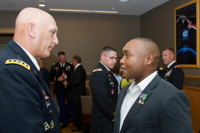 Army Chief of Staff Gen. Raymond T. Odierno and his staff tour the facilities of NBC Universal Studios in Burbank, Calif., June 11, 2012. Odierno met with military veterans employed by the company and senior executives during a visit to promote the Army Birthday Week.