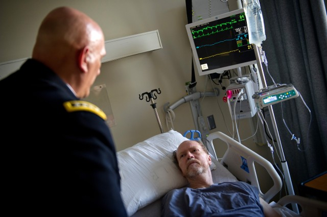 Chief of Staff of the Army Gen. Raymond T. Odierno visited with veterans at the Long Beach Veterans Affairs Medical Center in Long Beach, Calif., June 11, 2012.