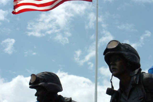 The Army's 237th birthday will be celebrated Thursday from 11 a.m. to 1 p.m. at the Community Activity Field during Armed Forces Celebration Week. This is a view from the Veterans Memorial downtown.