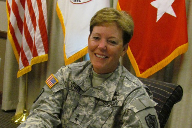 Maj. Gen. Heidi V. Brown enjoys leading test programs for the Missile Defense Agency. The Army has given Brown opportunities to blaze new leadership ground as one of a growing number of female general officers.