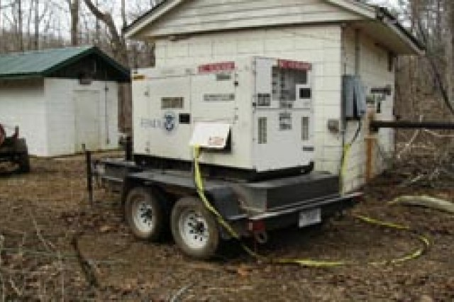 A generator installed at a pump station.