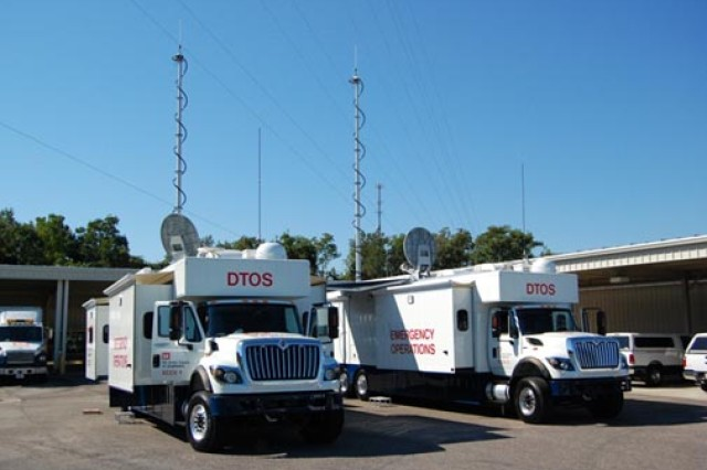 Corps' Deployable Tactical Operating System (DTOS) communications units are used for emergency power missions.