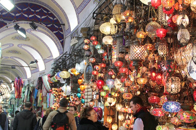 Overload your senses at the Grand Bazaar, where you can get lost in the 4,000 tiny stalls. If you get overwhelmed stop and have tea at a cafe, restaurant or one of the many courtyards.