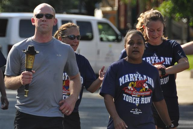 APG police carry torch for Special Olympics