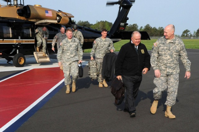 Under Secretary of the Army Joseph W. Westphal met with senior leaders to learn more about TRADOC's top initiatives