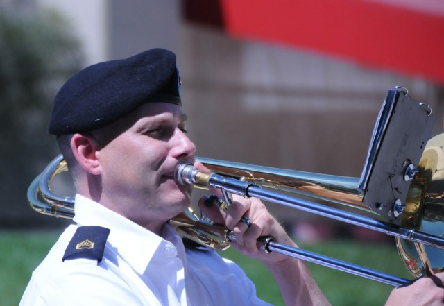 100th Army Band plays at Cincinnati Reds game on Flag Day