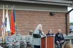 Susan Baldwin speeaks at the Fort Custer Reserve Center Dedication