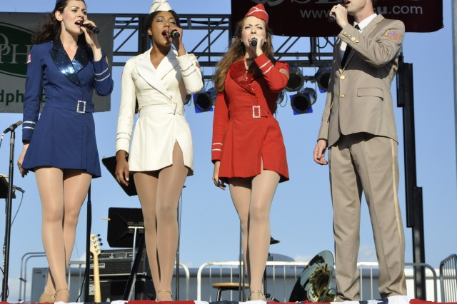The New York City USO Liberty Bells was one of four performing acts at the City of Albany Father's Day and Army Birthday Concert on June 17.