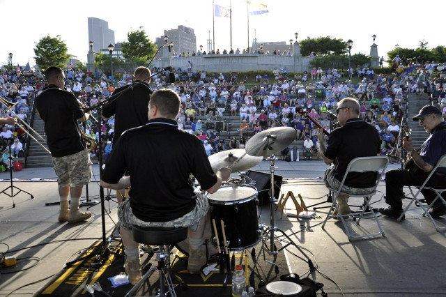 The Army Materiel Command Band's Tennessee River Ramblers was one of four performing acts at the City of Albany Father's Day and Army Birthday Concert on June 17.