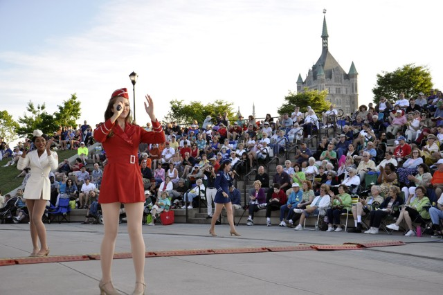 The USO Liberty Bells performing in front of more than 2,500 during the City of Albany Father's Day and Army Birthday Concert on June 17.