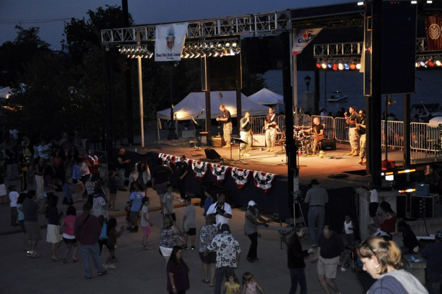 The Army Reserve's 94th Army Rock Band was one of four performing acts at the City of Albany Father's Day and Army Birthday Concert on June 17.
