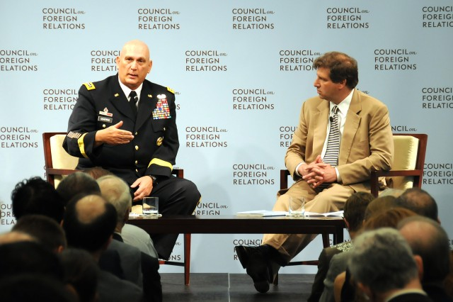 Chief of Staff of the Army Gen. Raymond T. Odierno sat down with Foreign Affairs editor Gideon Rose, June 20, 2012, in Washington, D.C., to discuss transition in the Army.