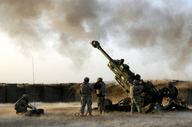 The Arsensal manufactures the parts that makes the Battery B, 2-11 FA, M777A2, 155mm light-weight howitzer, lethal.  The Arsenal manufactures the gun and the breech block.