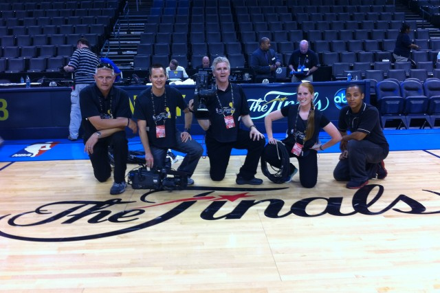 Division West Soldiers work at 2012 NBA Finals