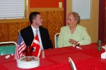 Alex Cahill meets with Danish Sisterhood of America member