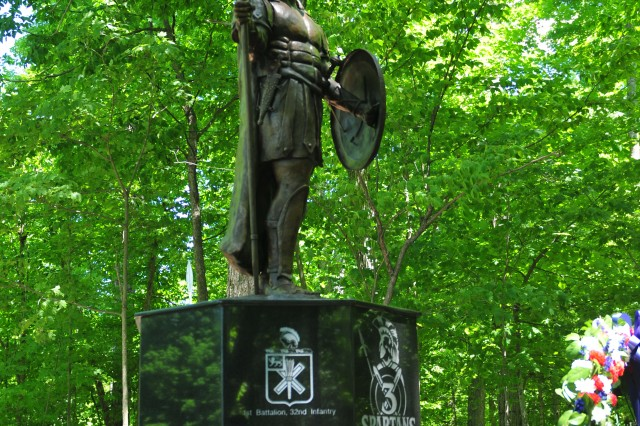 The Spartan Statue was officially unveiled May 30 during a ceremony on Fort Drum, N.Y. The marble base is engraved with the names of the fallen Soldiers from all but the most recent of the 3rd Brigade Combat Team, 10th Mountain Division's deployments. The remaining names will be added soon.