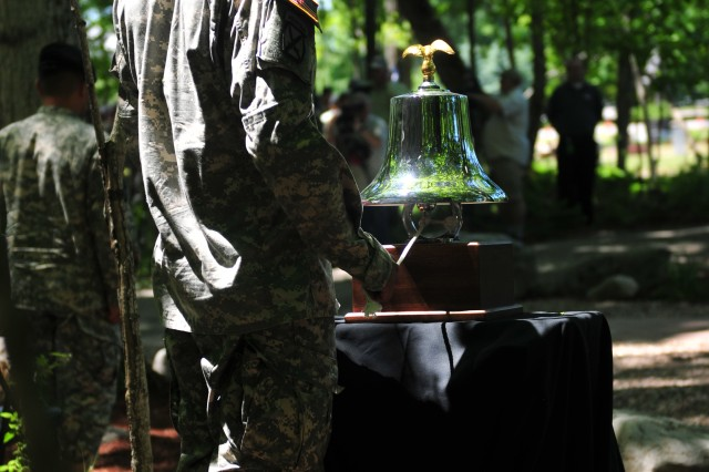 During the unveiling for the Spartan Memorial, a bell was rung after the reading of the names of each of the 109 fallen Spartan Soldiers.