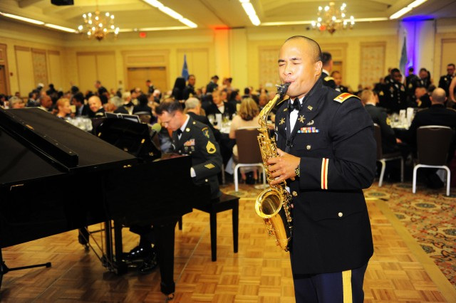 PRESIDIO OF MONTEREY, Calif. -- Service members provide the musical entertainment during the 229th Military Intelligence Battalion Army Birthday Ball.
