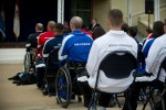 Warriors listens to Gen. Odierno at the Warrior Games recognition ceremony