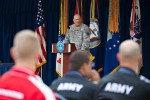 Gen. Odierno gives his remarks during the Department of Defense Warrior Games recognition ceremony