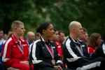 Warriors attend the Department of Defense Warrior Games recognition ceremony