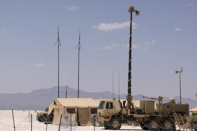 The Network Integration Evaluation, or NIE, 12.2 was the third and largest such event the Army has held to date, requiring the 2nd Brigade, 1st Armored Division, to assess the network's performance while stretched across vast distances and punishing terrain at White Sands Missile Range, N.M. Soldier feedback and test results from NIE 12.2 will validate and finalize Capability Set 13, the first integrated package of tactical communications gear that will be fielded to up to eight brigade combat teams starting in October. The integrated package of radios, satellite systems, software applications, smartphone-like devices and other network components supported 2/1 AD as the unit spread across the desert and mountains to complete its mission.