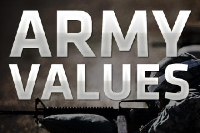 Army Values spotlight graphic