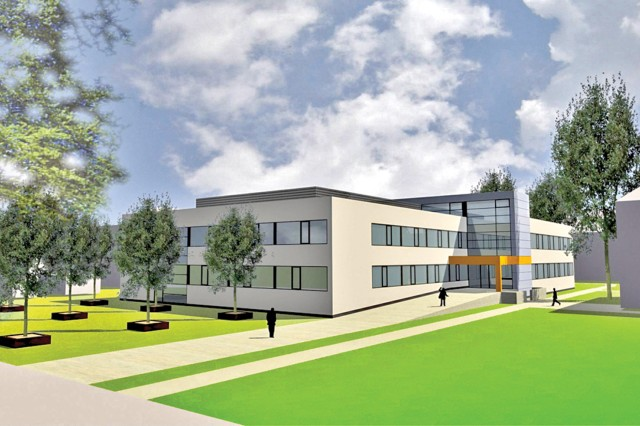 An artist's rendition of the Information Processing Center to be completed by October 2013.