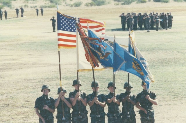 On July 1, 1987, more than 1,500 MI Soldiers came to attention on Chaffee Parade Field during the activation of the Military Intelligence Corps.