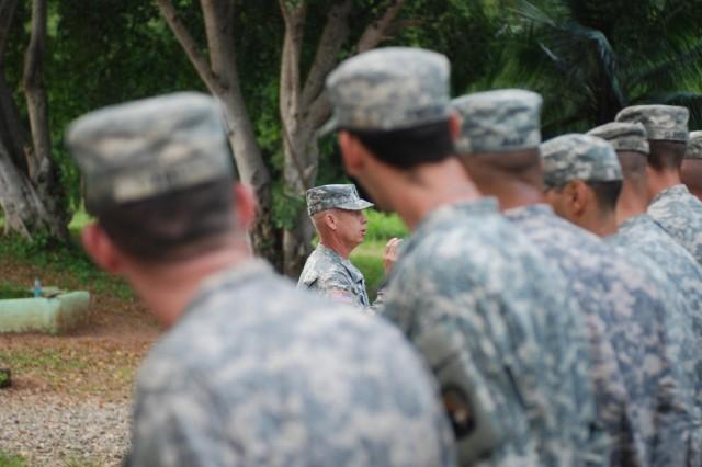 Missouri National Guard Sgt. Maj. Scott Mayer, of Lee