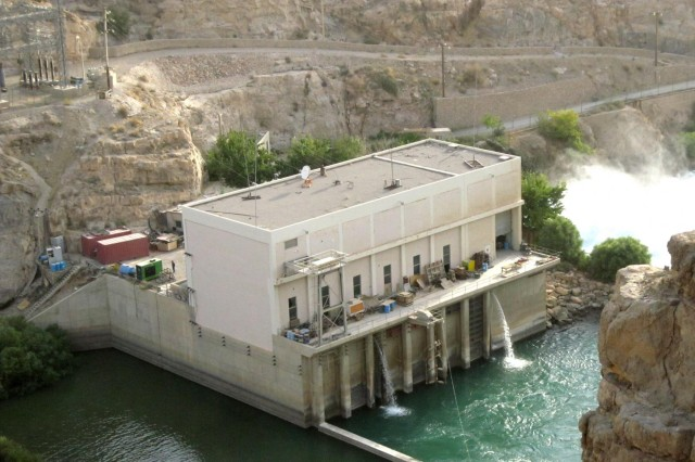 Kajaki Dam power house is seen in the Helmand province, Afghanistan.