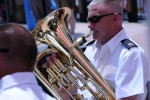 100th Army Band marches in