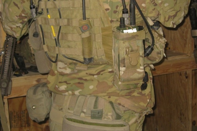 A member of the 75th Ranger Regiment in Afghanistan wears the Joint Tactical Radio Systems Rifleman Radio.