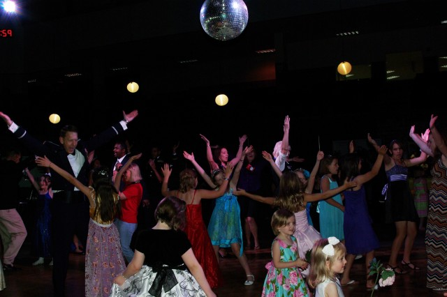 """A Knight to Remember"" was the theme for the 6th annual Father-daughter ball hosted by the Armed Services YMCA of Alaska at the Carlson Center, June 7. Service members and daughters enjoyed an evening of food, entertainment and lots of dancing. (Photo by Cynda Cherish, ASYMCA)"