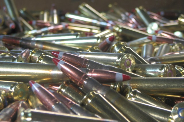 A completed Joint Munitions Command Lean Six Sigma project improves  processing of information and technical data requests from law enforcement agencies. Small-caliber ammunition from Lake City Army Ammunition Plant in Independence, Mo.
