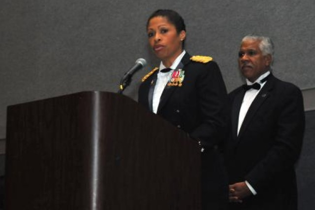 Maj. Gen. Marcia Anderson, deputy chief of the Army Reserve, speaks at the NAACP annual conference in Houston, July 10, 2012, and highlights Army efforts to help current and former service members transition into the civilian job market.