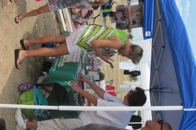 Girl Scouts Troop 603 and Cub Scouts Pack 431 had informational booths set up encouraging others to join.