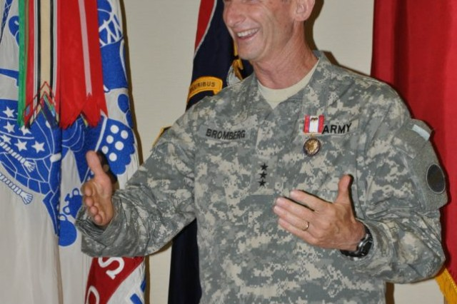 FORT BRAGG, N.C. -- Lt. Gen. Howard B. Bromberg shares a happy memory of his time as the FORSCOM deputy commanding general and chief of staff.