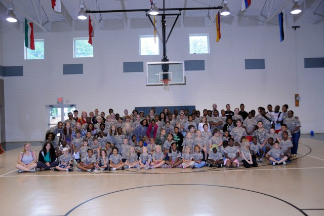 This week-long camp at Camp Hanes in King, N.C. included a Military Day where children were exposed to different aspects of military life such as, camoflauge face paint, physical training and a static vehicle display. The children, most of whom were from military families, also wrote supportive letters to veterans and drew pictures that will become parts of a larger mural as a part of Project S.N.A.P. and the Operation Grateful Nation Mosaic Mural project.