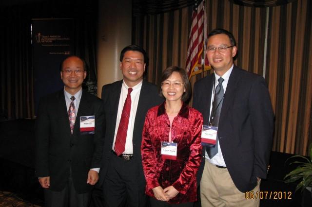 Dr. Richard Fu (SEDD), Tommy Hwang (AAGEN chair), Dr. Susan Young (SEDD) and Dr. Tien Pham (SEDD)