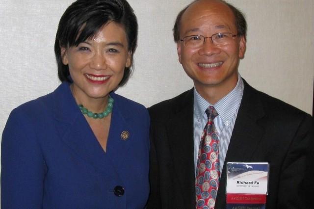 Congresswoman Judy Chu (Congressional Asian Pacific American Caucus, CAPAC chairwoman) and Dr. Richard Fu