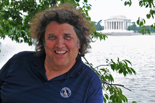 Rob McIlvaine at the Jefferson Memorial, Sept. 2, 2011, following an assignment at the World War II Memorial.