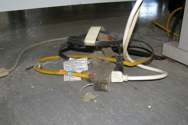 Extension cords should not be used for fixed wiring.