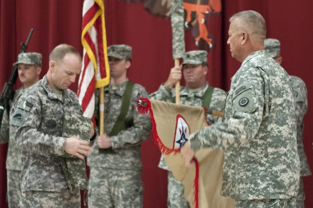 "The 364th Sustainment Command (Expeditionary), an Army Reserve unit from Marysville, Wash., gave the 316th ESC, an Army Reserve unit from Pittsburgh, control of its mission in a transfer of authority ceremony at Camp Arifjan, Kuwait, July 18. ""The soldiers of the 316th ESC are excited to be in Kuwait, excited for the mission of supporting our forces and working closely with our allies, and excited to be taking over command from the 364th ESC,"" said Brig. Gen. Bud R. Jameson, Jr."