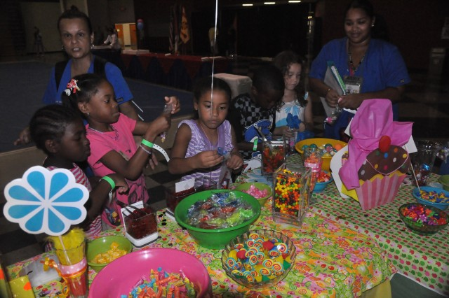 Candy and prizes were made available to children taking part in last week's Fort Jackson birthday celebration.