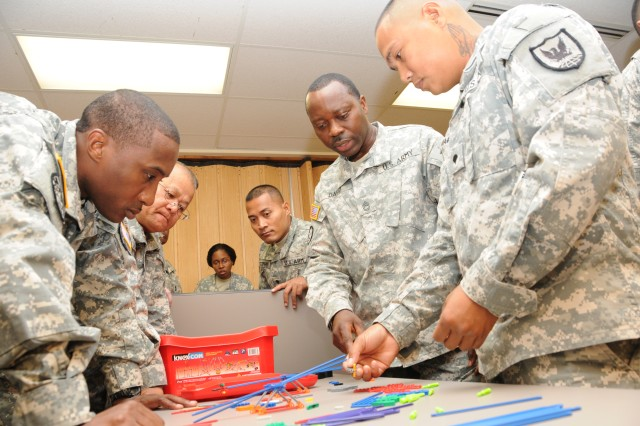 Teambuilding exercise for Soldiers of multi-component command
