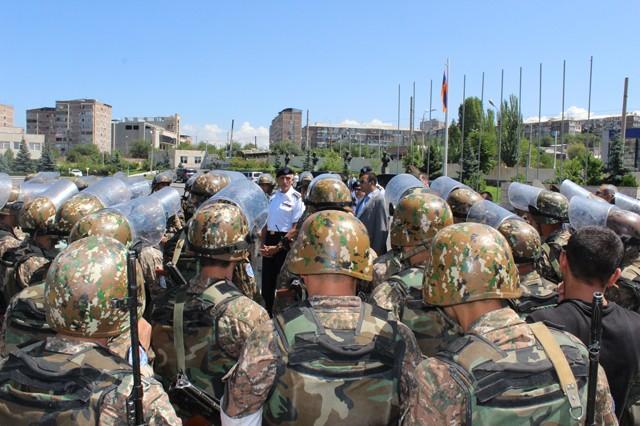 U.S. Army Europe Commander Lt. Gen. Mark P. Hertling talks to Armenian Soldiers July 18.