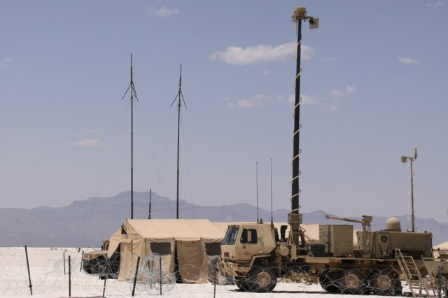 A Warfighter Information Network-Tactical Tactical Communications Node is pictured at White Sands Missile Range, N.M., during NIE 12.2 in May 2012. The July 19, 2012, industry day focused on opportunities to participate in NIE 13.2 next year.